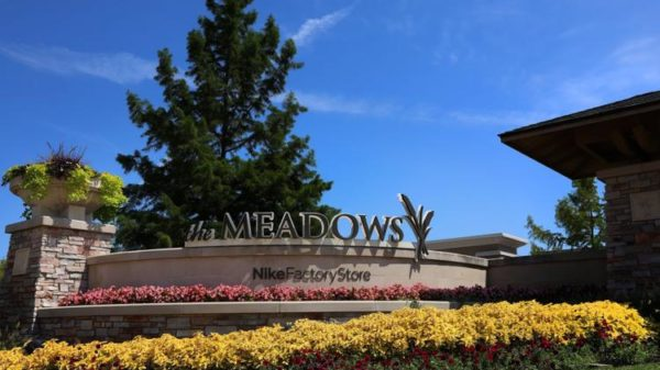 The Meadows shopping plaza signage.
