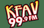 KFAV 99.9 FM logo.