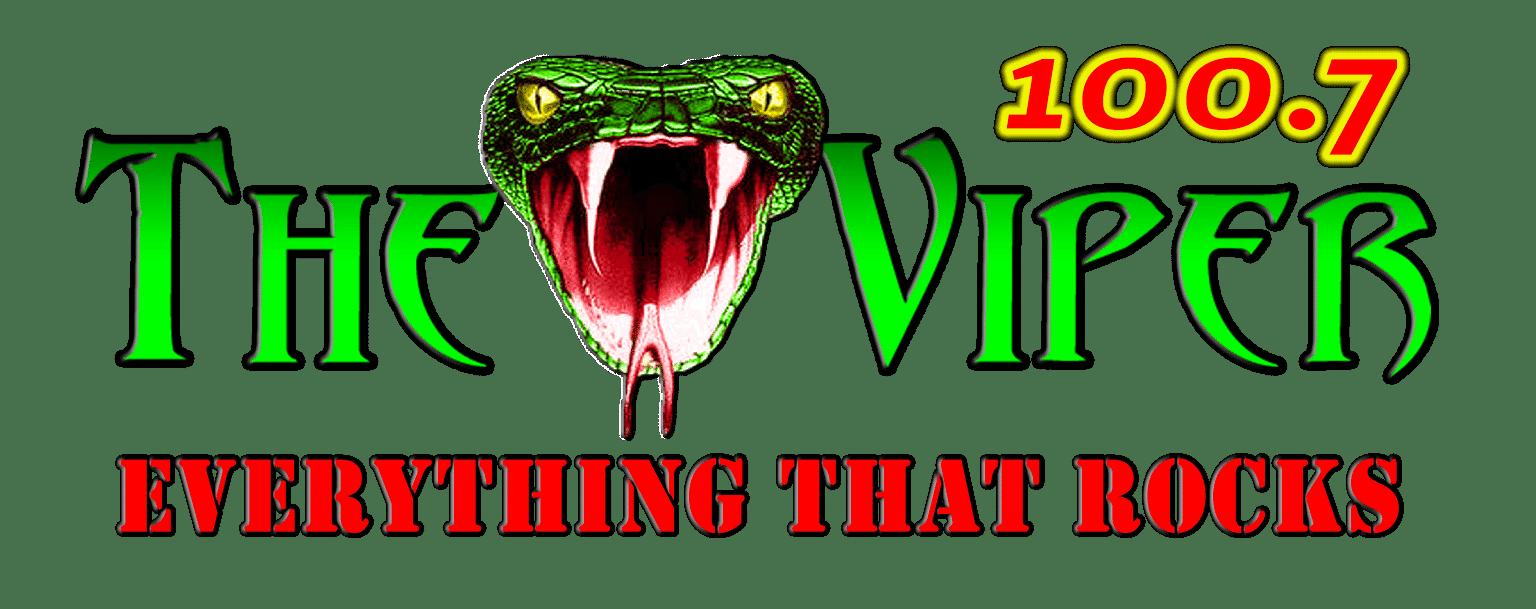 100.7 The Viper logo.